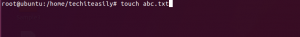 touch command in linux