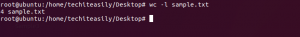 wc -l command in linux