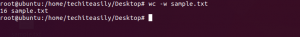 wc -w command in linux